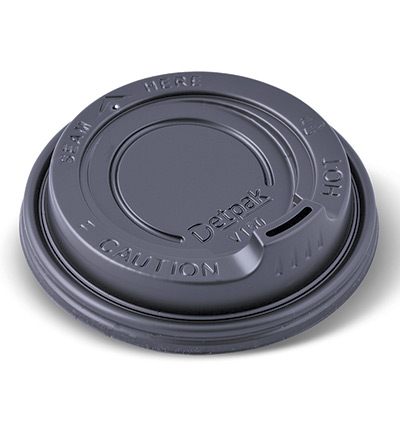 12-16-20oz Ripple Cup Lid Black Ctn 1000