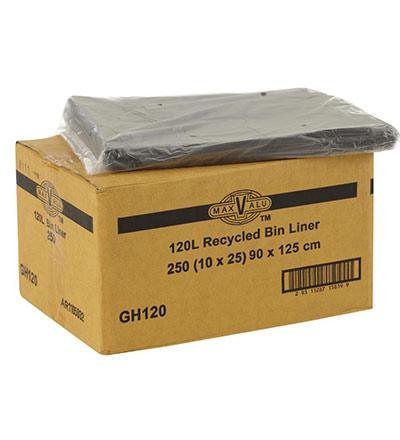 MaxValu Bin Liners 120L Pkt 250