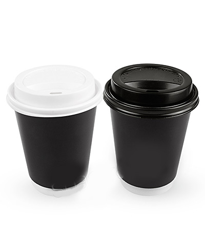 12oz Double Wall Cup Black Ctn 500