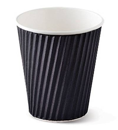12oz Ripple Cup Black Ctn 1000
