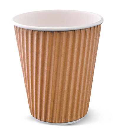 12oz Ripple Cup Brown Ctn 1000