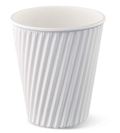 12oz Ripple Cup White Ctn 1000