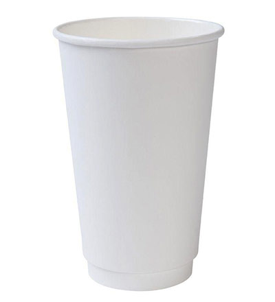 16oz Double Wall Cup White Ctn 500