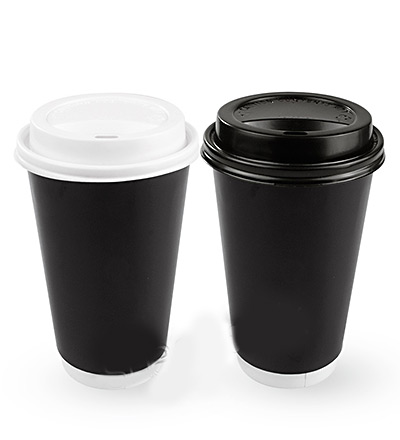 16oz Double Wall Cup Black Ctn 500