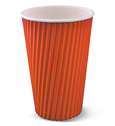 16oz Ripple Cup Red Ctn 500