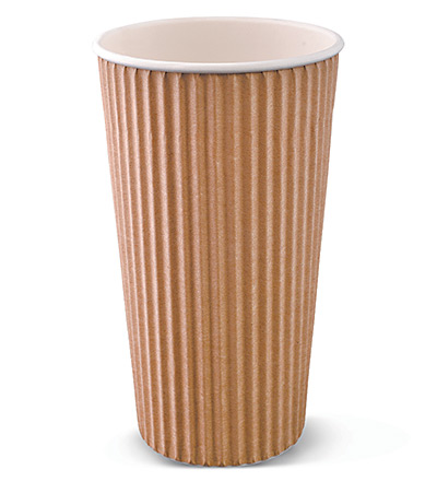 20oz Ripple Cup Brown Ctn 500