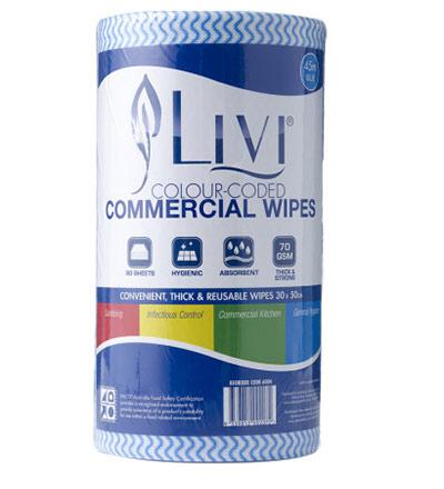 Livi Commercial Wipes Blue