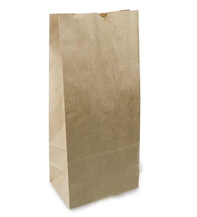 #8 SOS Brown Kraft Bag 332x180+112 Ctn 500