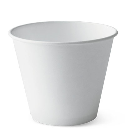 8oz Squat Single Wall Cup White Ctn 1000S