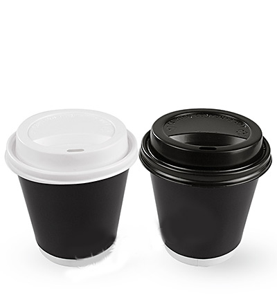 8oz Double Wall Cup Black Ctn 500