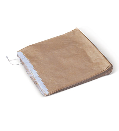 Half Square Greaseproof Lined Brown Bag Pkt 500
