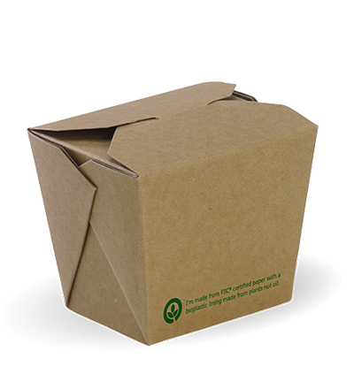 8oz PLA lined Bio Noodle Box - 1000ctn