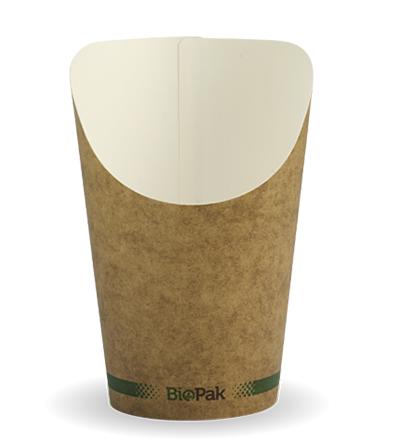 12oz Paper Chip BioCup - Kraft look - 1000ctn