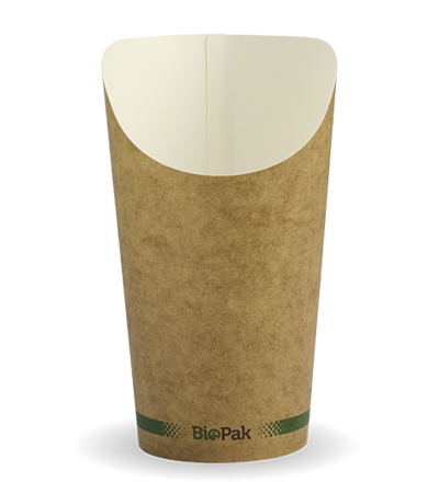 16oz Paper Chip BioCup - Kraft look - 1000ctn