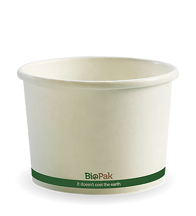 16oz Paper Bio Bowl - White - 500ctn