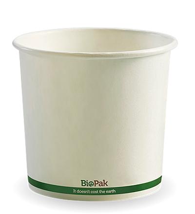 24oz Paper Bio Bowl - White - 500ctn