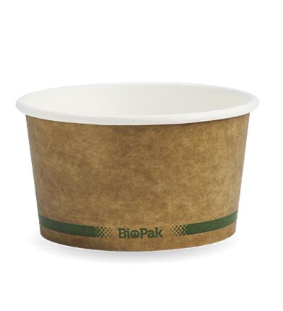12oz  Paper BioPak Bowl  -  Kraft look -   500ctn