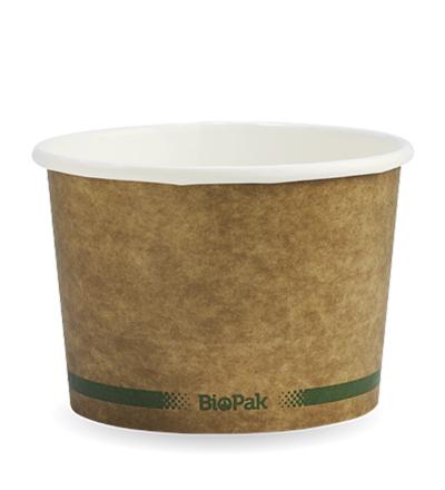 16oz Paper Bio Bowl - Kraft look - 500ctn