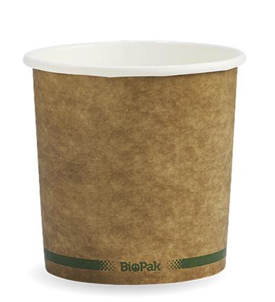 24oz Paper Bio Bowl - Craft look - 500ctn