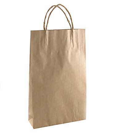 Baby Kraft Bag with twist handle Brown 265x160
