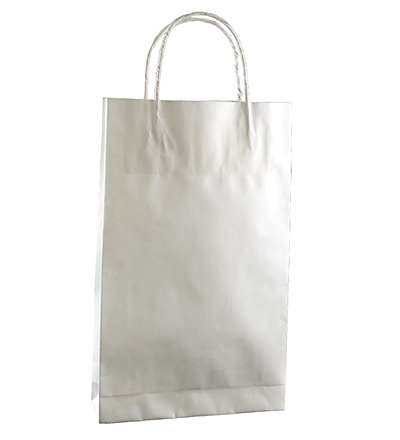 Baby Kraft Bag with twist handle White 265x160