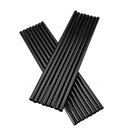 Plastic Regular Drinking Straw Black - Box 5000