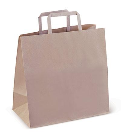 #5 Flat Paper Bag with Die cut handle Ctn 200