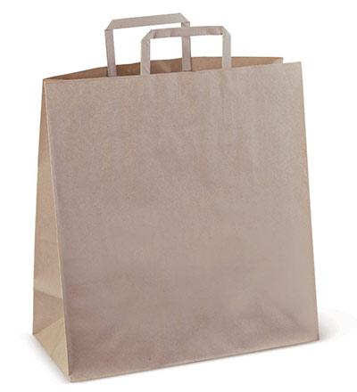 #75 Flat Paper Bag with Die cut handle Ctn 250