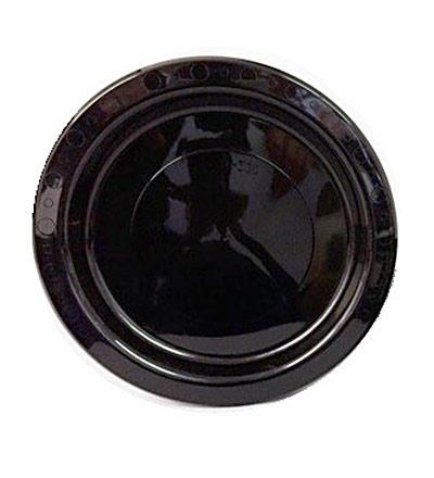 Plastic Round Plate - Black 180mm - Pkt 50