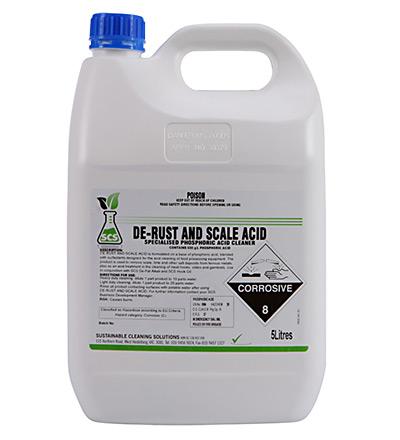 De-Rust and Scale Acid. 5lt or 15lt