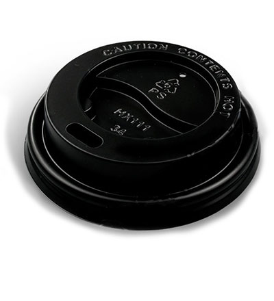 12oz Double Wall Cup Lid Black Ctn 1000