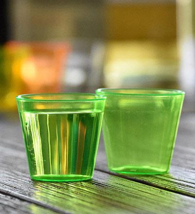 Disposable Shot Glass Green 30ml - Pkt. 25