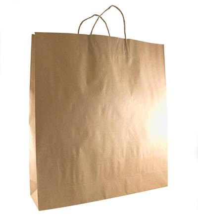 Large Kraft Bag with twist handle Brown 500x450