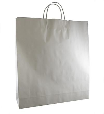 Large Kraft Bag with twist handle White 500x450