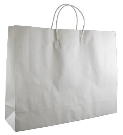 Lge Boutique Bag with twist handles White 350x450