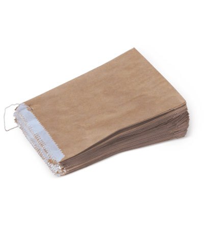Half Long Greaseproof Lined Brown Bag Pkt 500