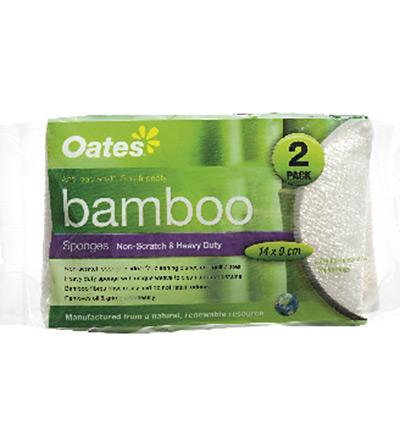 Oates Bamboo Sponge 2pk