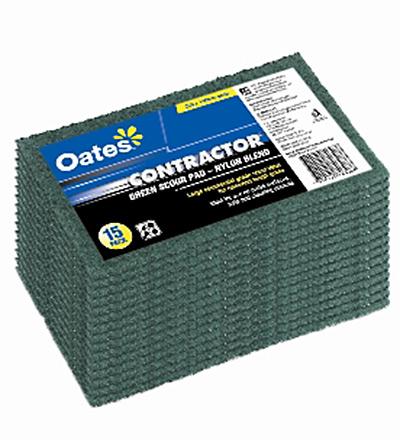 Oates Green Scour Pads 15pk