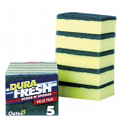 Oates Sponge Scour 5pk