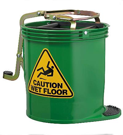 Oates Wringer Mop Bucket, Green. 15lt