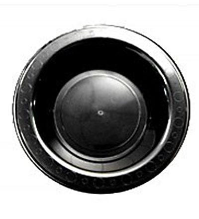 Plastic Round Bowl - Black 180mm - Pkt 50