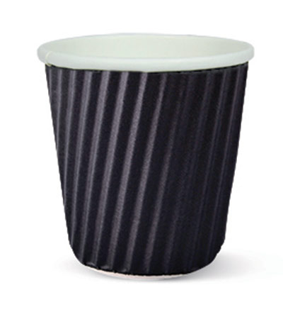 4oz Ripple Espresso Cup Black Ctn 1000