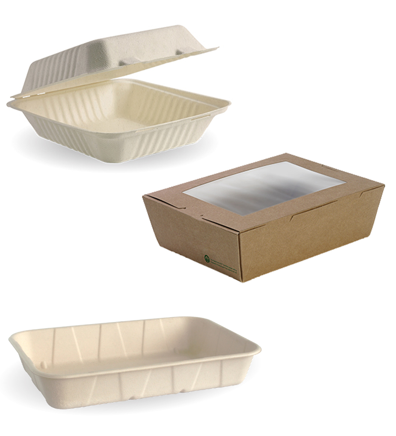 Food Boxes, Clams & Trays