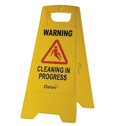 Warning Cleaning In Progress A Frame