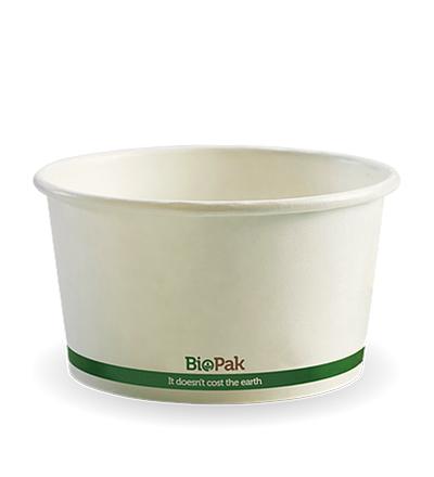 12oz Paper Bio Bowl - White - 500ctn