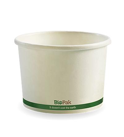 8oz Paper Bio Bowl - White - 1000ctn